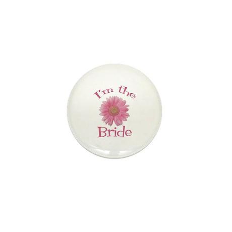 Bride Gerber Daisy Mini Button