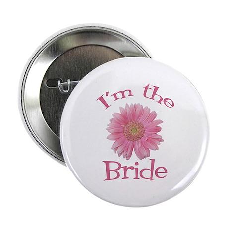 """Bride Gerber Daisy 2.25"""" Button"""