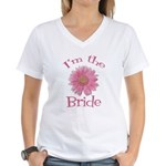 Bride Gerber Daisy Women's V-Neck T-Shirt