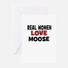 Real Women Love Moose Greeting Cards (Pk of 10)
