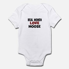Real Women Love Moose Infant Bodysuit