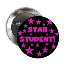 "Star Student (Pink, Black) 2.25"" Button"