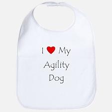 I Love My Agility Dog Bib