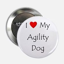 "I Love My Agility Dog 2.25"" Button"