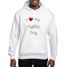 I Love My Agility Dog Jumper Hoody