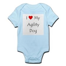 I Love My Agility Dog Infant Bodysuit