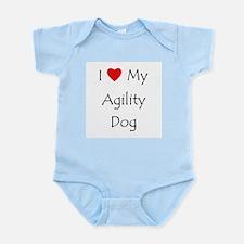 I Love My Agility Dog Infant Bodysuit