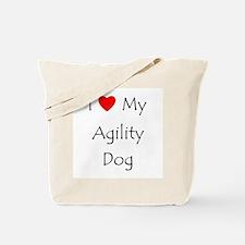 I Love My Agility Dog Tote Bag