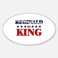 REGINALD for king Oval Decal