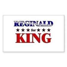 REGINALD for king Rectangle Decal