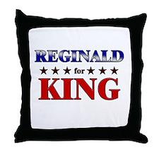 REGINALD for king Throw Pillow