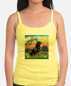 Bright Country with Rottweiler Jr.Spaghetti Strap