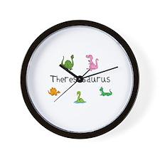 Theresaosaurus Wall Clock