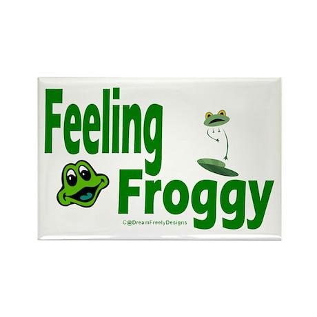Feeling Froggy Rectangle Magnet (10 pack)