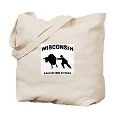 Cute Cow tipping Tote Bag