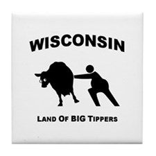 Cute Cow tipping Tile Coaster
