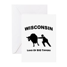 Cute Wisconsin Greeting Cards (Pk of 20)