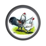 Ameraucana Rooster and Hen Wall Clock