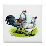 Ameraucana Rooster and Hen Tile Coaster