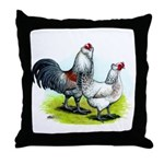 Ameraucana Rooster and Hen Throw Pillow