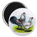 Ameraucana Rooster and Hen Magnet