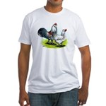 Ameraucana Rooster and Hen Fitted T-Shirt