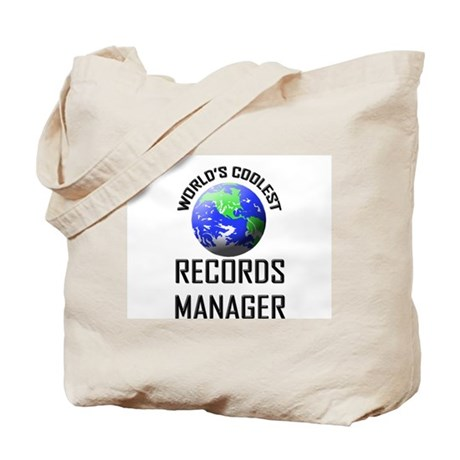 World's Coolest RECORDS MANAGER Tote Bag