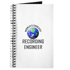 World's Coolest RECORDING ENGINEER Journal