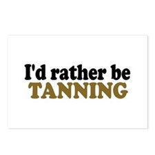 I'd rather be Tanning Postcards (Package of 8)