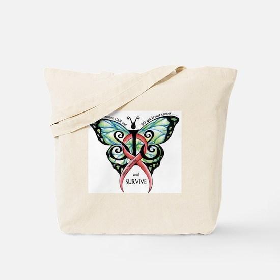 Funny Male breast cancer survivorship Tote Bag