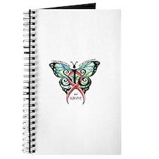 Cute Pink ribbon butterfly Journal