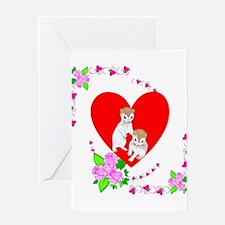 Ferret Love Valentine's Greeting Card