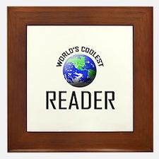 World's Coolest READER Framed Tile