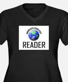 World's Coolest READER Women's Plus Size V-Neck Da