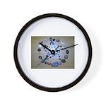 Naturally Magickal Pentacle of Stones Wall Clock