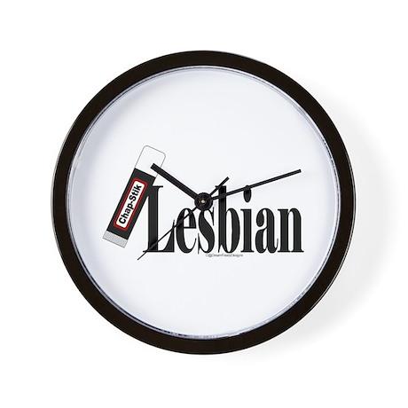 Chap-stik Lesbian Wall Clock