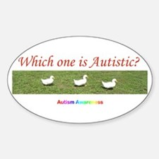 Which one is autistic? Oval Decal