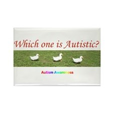 Which one is autistic? Rectangle Magnet