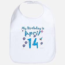 April 14th Birthday Bib