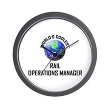 World's Coolest RAIL OPERATIONS MANAGER Wall Clock