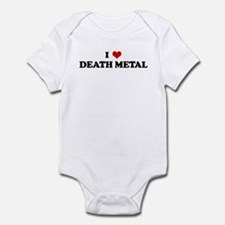 I Love DEATH METAL Infant Bodysuit