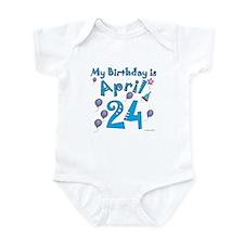 April 24th Birthday Infant Bodysuit
