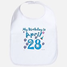 April 28th Birthday Bib
