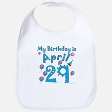 April 29th Birthday Bib