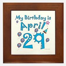 April 29th Birthday Framed Tile