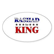 RASHAD for king Oval Decal