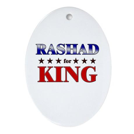 RASHAD for king Oval Ornament