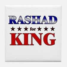 RASHAD for king Tile Coaster