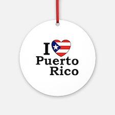 I Love Puerto Rico Keepsake (Round)