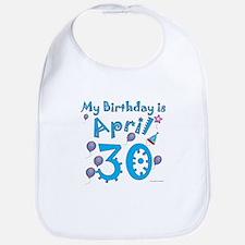 April 30th Birthday Bib